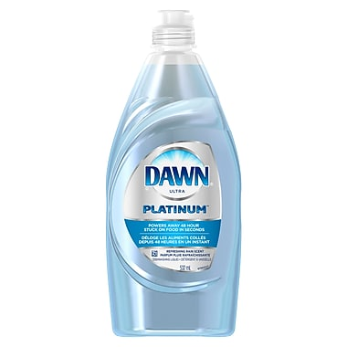 Dawn – Détergent à vaisselle liquide Platinum, fraîcheur vibrante, 532 ml, 10/paquet