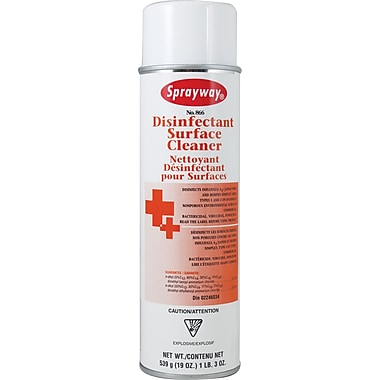 Sprayway – Nettoyant de surface germicide en aérosol, 19 oz, 12/paquet