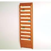 Wooden Mallet Ten Pocket Chart Holder; Medium Oak