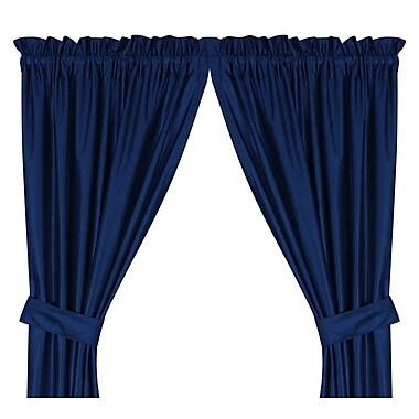 Sports Coverage NCAA Auburn Tigers Rod Pocket Window Treatment Set (Set of 2); 84'' W x 82'' L