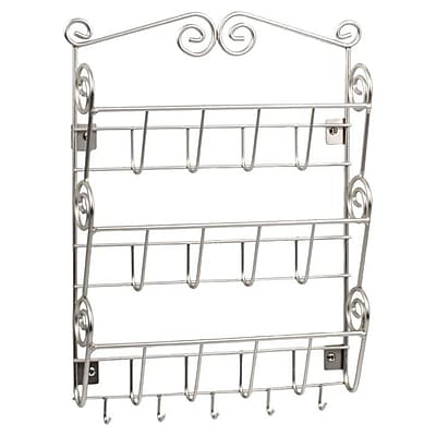 Spectrum Diversified Scroll Wall Mount Letter Holder in Satin Nickel