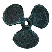Handcrafted Nautical Decor Propeller Paperweight; Seaworn Blue