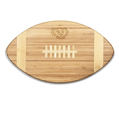 Picnic Time NCAA Touchdown! Engraved Cutting Board; Wisconsin
