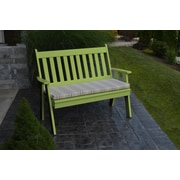 A&L Furniture Traditional English Plastic Garden Bench; Tropical Lime