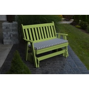 A&L Furniture Traditional English Gliding Bench; Tropical Lime