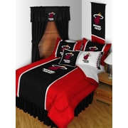 Sports Coverage NBA Miami Heat Bed Skirt; Full