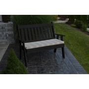 A&L Furniture Traditional English Plastic Garden Bench; Black