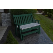 A&L Furniture Traditional English Gliding Bench; Turf Green