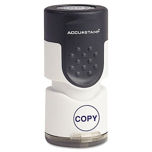 "Accu-Stamp® Pre-Inked Round Stamp, COPY,  5/8"" Diameter Impression, Blue (035653)"
