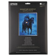 Epson Signature Worthy Paper Sample Pack, 8-1/2 x 11, Assorted Finishes, 14 Sheets/pk