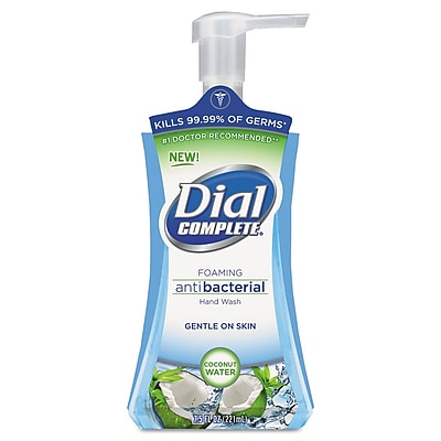 Dial Professional Antimicrobial Foaming Hand Soap, Coconut Waters, 7.5 Oz Pump Bottle, 8/carton