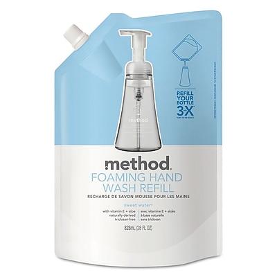 Method Foaming Hand Wash Refill, 28 Oz Pouch, Sweet Water, 6/carton