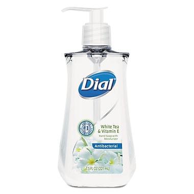 Dial Antimicrobial Liquid Soap, 7 1/2 Oz Pump Bottle, White Tea, 12/carton