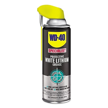 WD-40 Specialist Protective White Lithium Grease, 10 Oz Aerosol, 6/ct