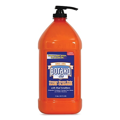 Boraxo Orange Heavy Duty Hand Cleaner, 3 Liter Pump Bottle, 4/carton