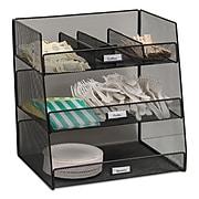 Safco® Onyx Hospitality Break Room Organizer, 3-Tier, Black (3293BL)