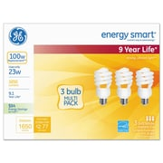 GE Energy Smart Compact Fluorescent Light Bulb, 1650 Lm, 120 V, Soft White, 3/pack