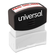 Universal Message Stamp, Paid Online, Pre-Inked One-Color, Red