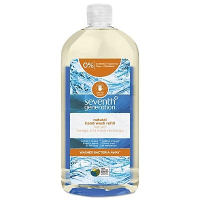 Seventh Generation Natural Hand Wash, Purely Clean Fresh Lemon & Tea Tree, 32 Oz Bottle, 6/carton