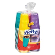 Hefty® Easy Grip® Disposable Plastic Party Cups, 16 oz, Yellow; Purple; Red; Teal, Plastic, 100/Pack (C21637)