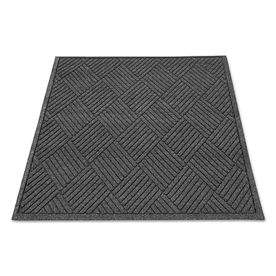 Guardian Ecoguard Diamond Floor Mat, Rectangular, 36 x 48, Charcoal