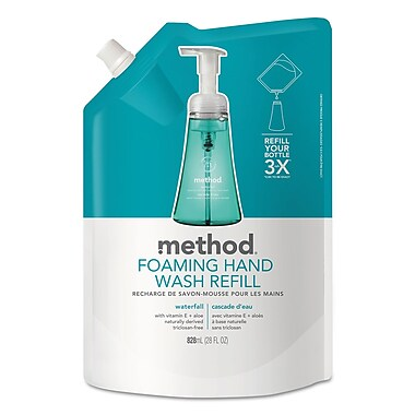 Method Foaming Hand Wash, Waterfall, 28 Oz Pouch