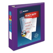 "Avery Heavy-Duty View Binder with 2"" One Touch EZD Rings, 540 Sheet Capacity, Purple (79777)"
