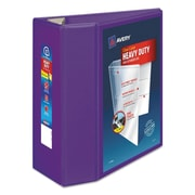 "Avery Heavy-Duty View Binder with 5"" One Touch EZD Rings, Purple (79816)"