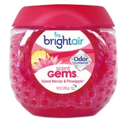 BRIGHT Air Scent Gems Odor Eliminator, Island Nectar & Pineapple, Pink, 10 Oz, 6/ct