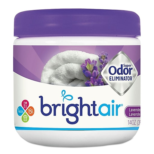 Bright Air Super Odor Eliminator Passive Air System & Accessory, Lavendar & Fresh Linen, 14 Oz., 6/Carton (900014)