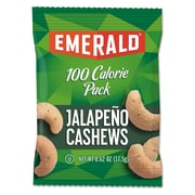 Emerald® 100 Calorie Pack Nuts, Jalapeno Cashews, Nuts, 0.62 oz (33625)