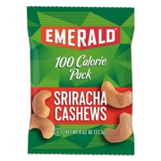 Emerald® 100 Calorie Pack Nuts, Sriracha Cashews, Nuts, 0.62 oz (33825)