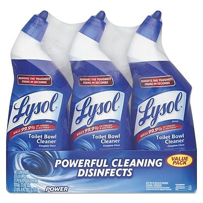 LYSOL® Brand Disinfectant Toilet Bowl Cleaner, Wintergreen, 24 oz, 3/Pack (90704PK)