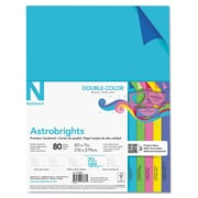 "Astrobrights Papier cartonné, 8,5 x 11 po, 70 lb/189 gsm, assortiment de 5 couleurs ""double couleur"" paq./80 (98883)"
