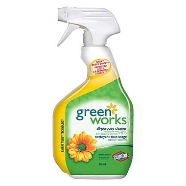 Green Works – Nettoyant tout usage, 946 ml, 12 paquets/boîte