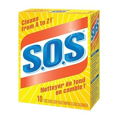 S.O.S Steel Wool Soap Pads, 10/Pack, 6 Packs/Case