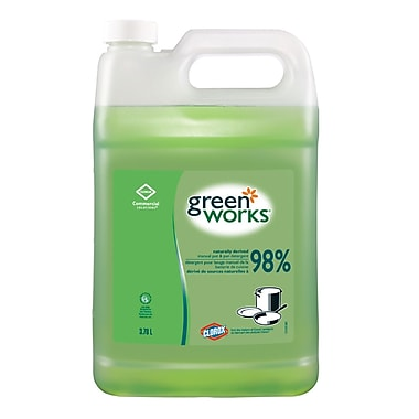 Green Works Pot and Pan Dish Detergent, 3.78L, 4/Pack