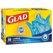 Glad – Sacs à ordures bleus grand format, 30/paquet, 8 paquets/boîte