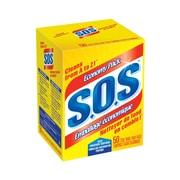 S.O.S. – Tampons en laine d'acier savonneux, 50/paquet, 8 paquets/boîte