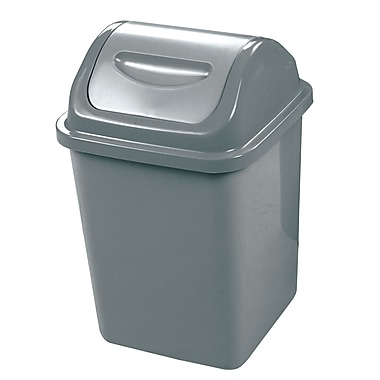 Dura Plus Grey 10L Waste Basket with Lid (DP07026-GRY)