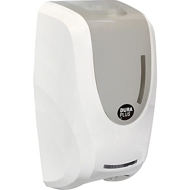 Dura Plus Automatic Foam Soap Dispenser, White Plastic 1000mL W/lock, Each