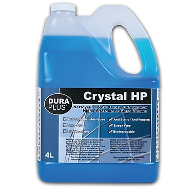 Dura Plus Crystal Hp Glass Cleaner 4L, 4/Pack