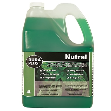 Dura Plus All Purpose Neutral Detergent Peppermint 4L, 4/Pack