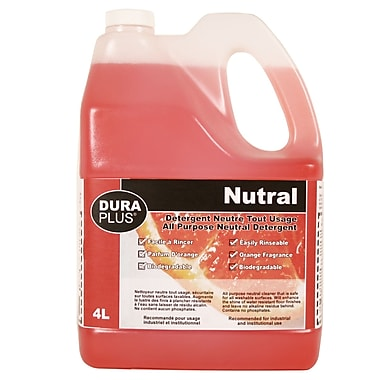 Dura-Plus – Détergent naturel tout usage orange 4 l, 4/paquet