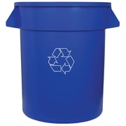 """Huskee Recycling Container 19.5"""" x 22.5""""H, Blue, 75.7L, Each"""