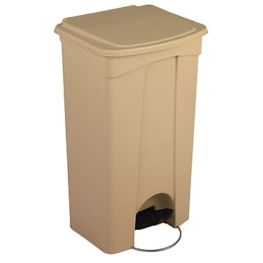 Beige Step On Container 23 Gal, Each