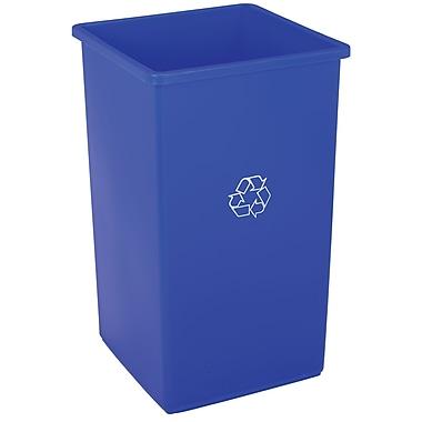 Swingline – Bac de recyclage 94,6 L, bleu, 16,5 x 16,5 x 26,875 haut. (po), chacun