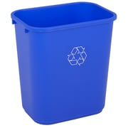 """7-Gal Rectangular Recycling Basket, 14"""" x 10"""" x 15"""", Blue, Each"""
