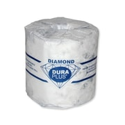 Dura Plus White 2 Ply Diamond Quality Bathroom Tissue 420 Sheets, 48/Pack