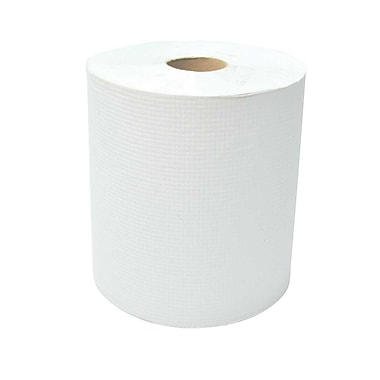 Dura Plus White Diamond Hand Paper Roll 8